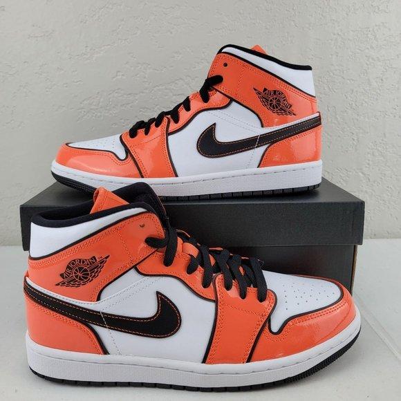 Men's Air Jordan 1 Mid SE Turf Orange DD6834-802